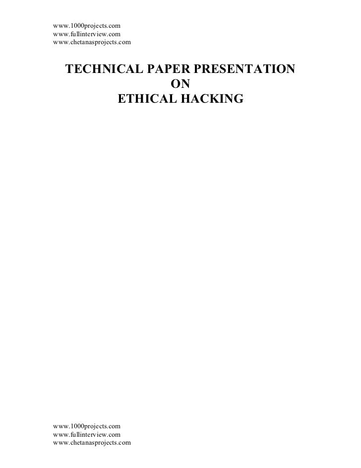 www.1000projects.comwww.fullinterview.comwww.chetanasprojects.com   TECHNICAL PAPER PRESENTATION                ON        ...