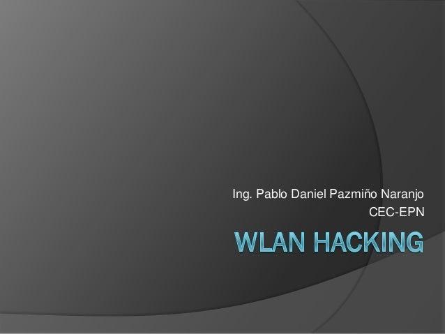 Ing. Pablo Daniel Pazmiño Naranjo CEC-EPN