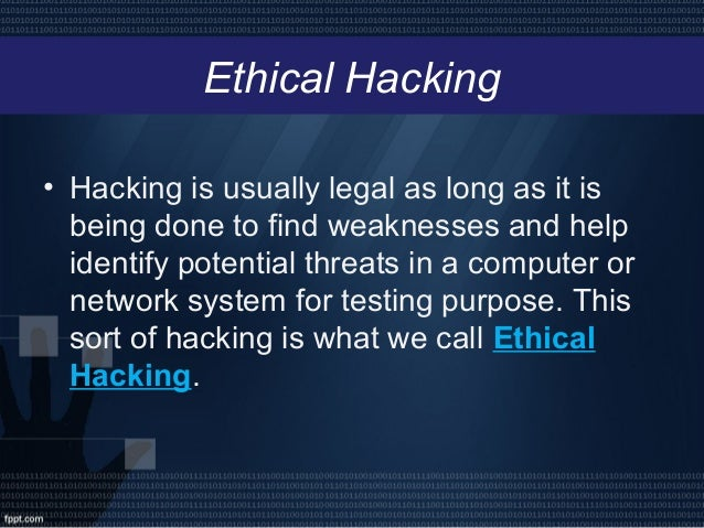 Ethical Hacking Powerpoint
