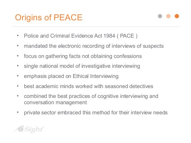 Ethical Investigation Interviews The Peace Model