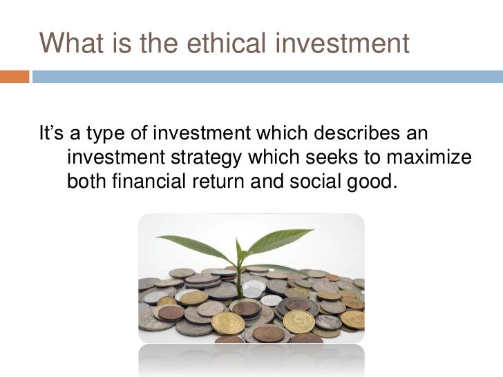 ethical investment At churchill ethical investment we are experts in using combinations of these funds to create well balanced portfolios we have series of risk-rated model portfolios and we are also happy to create bespoke portfolios for investors with specific ethical criteria.