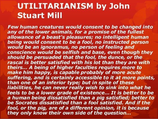 ethics and utilitarian point Utilitarianism from wikipedia, the free encyclopedia ( ) (see article on conseqentialism) this article.