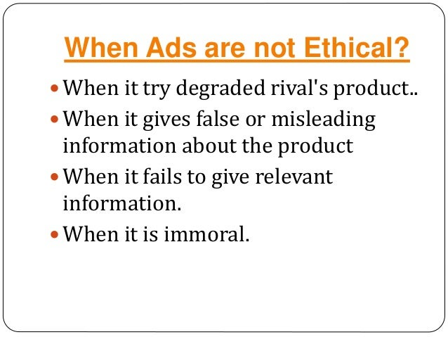 unethical issues in advertising
