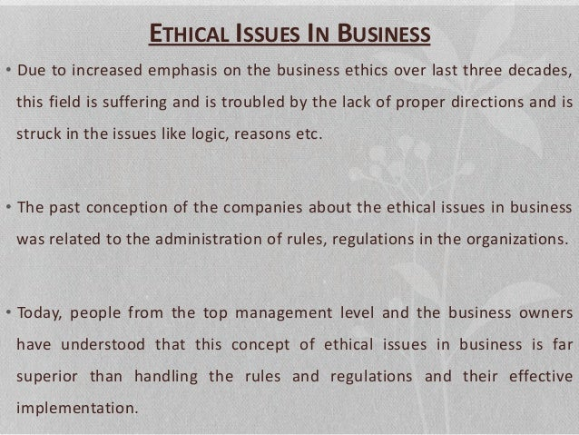 legal regulatory ethics issues trends paper