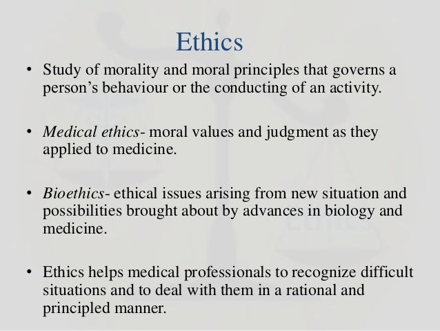 ethical issues in medicine Ethical issues in pedigree research are complicated because there can be potential conflicts between the rights and ethical principles for medical research:.
