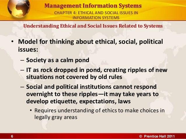 ethical social and political issues are raised by information systems Understanding ethical and social issues related to systems  the major ethical,  social, and political issues raised by information systems.