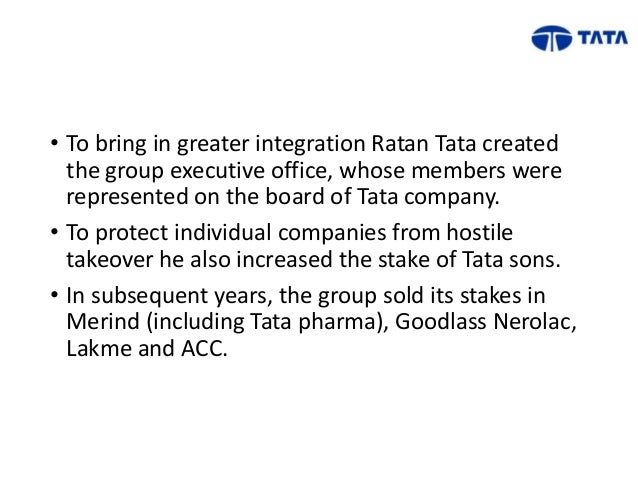 leadership in the tata group A tradition of entrepreneurship and good governance has propelled tata  companies to leadership positions in several industries tata communications:  world's.