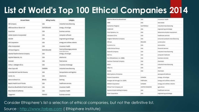 Ethisphere Announces 124 Companies to Make the 2017 World's Most Ethical Companies® List