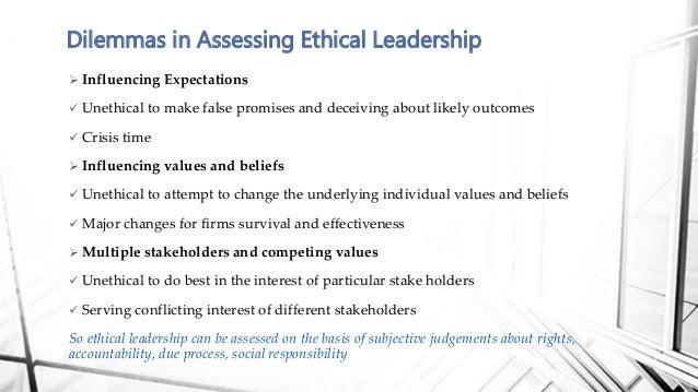 Ethical leader robert a macdonald