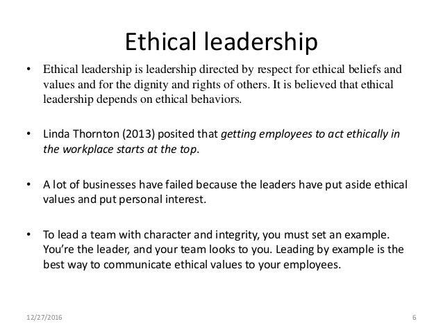ethical leadership pdf