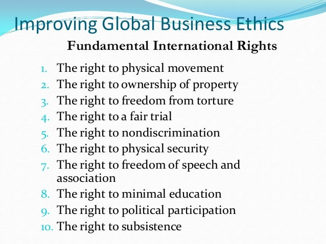 globalization of business ethics