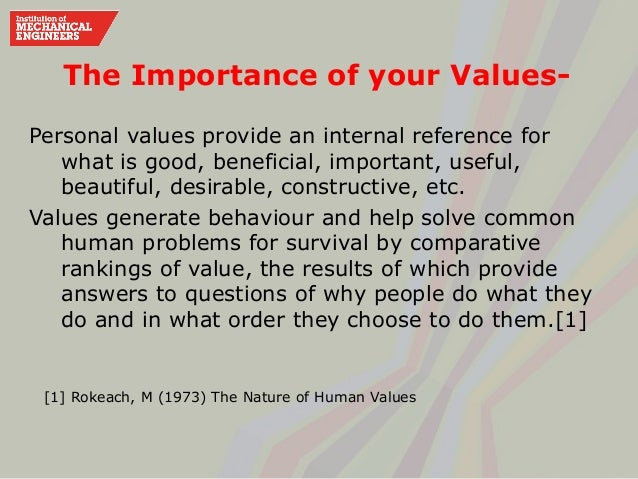 what values are important