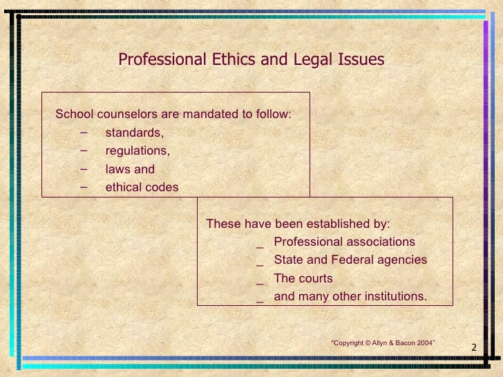 A Look at Ethical Issues in School Counseling