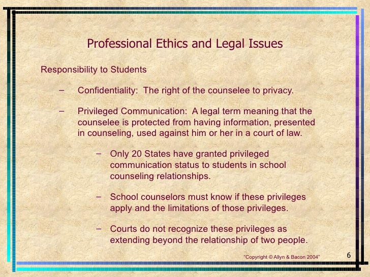 counseling ethics Professional code of ethics for malaysian counselors was developed by  perkama (persatuan kaunseling malaysia) more than two decades ago, and is  now.