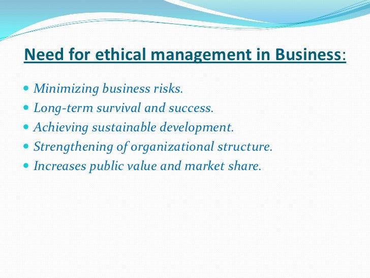Ethical Issues in Strategic Management