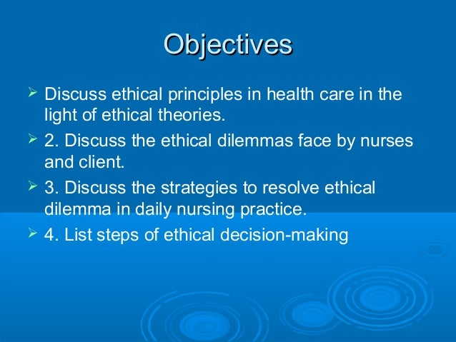 ethical theories of nursing Ethical theories consequentialism deontology virtue ethics principlism different ethical theories exist and theories can be applied to different situations to inform our thinking and support decision making.