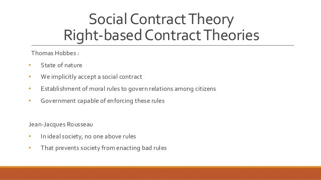 contract based ethical theory What is the difference between ethics and social contract (i admit that the theory seems to require a rather high ethics can be based on social contracts.