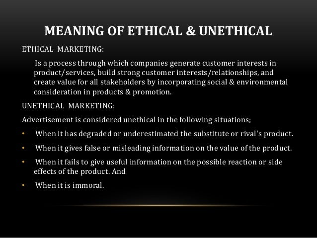 ethics of non traditional marketing by advertisers Abstract the purpose of this paper is to analyze the ethics of non-traditional marketing by advertisers multiple aspects of the specific type of advertising will be explained and backed up with research, examined through the potter box, compared with the federal trade commission (ftc) guidelines for legal and ethical marketing, and specific examples of invasive and ethically questionable .