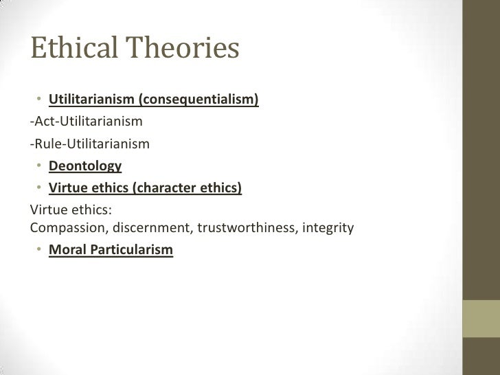 ethics and ethical theories utilitarianism Start studying libs 7021 (ethical theories - relativism, utilitarianism, deontology learn vocabulary, terms, and more with flashcards, games, and other study tools.