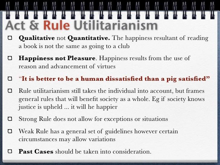 Act utilitarianism essays