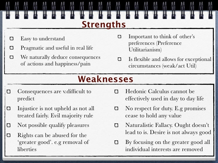 ethical strengths and weaknesses Strengths and weaknesses both matter, and both are us.