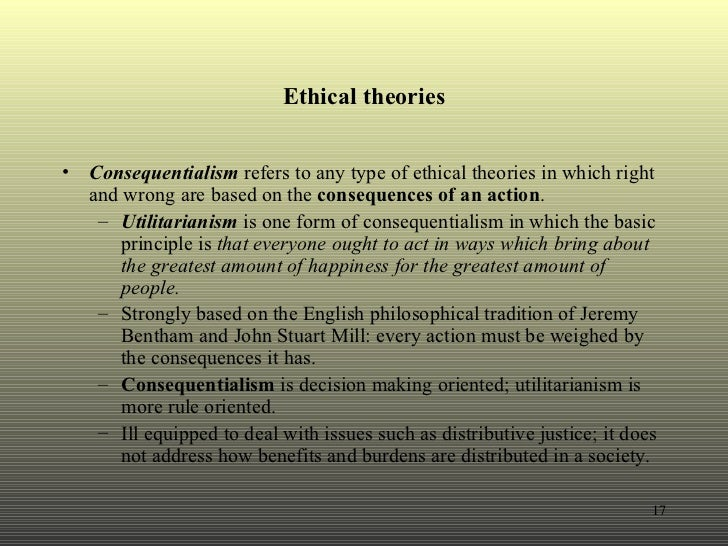 consequentialism approach law Consequentialist vs non-consequentialist theories of ethics there are  a  consequentialist theory of value judges the rightness or wrongness of an action  based on the consequences that action has the most  natural law theory a  theistic.