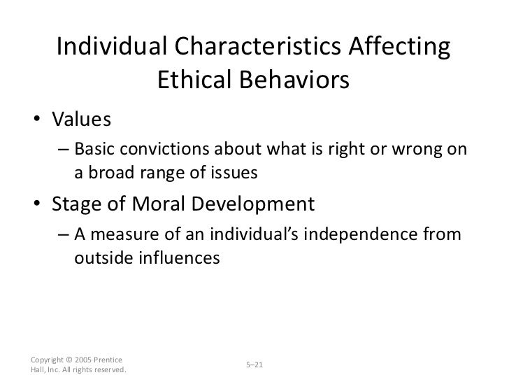 Image result for Individual responses to Ethical Situations Introduction