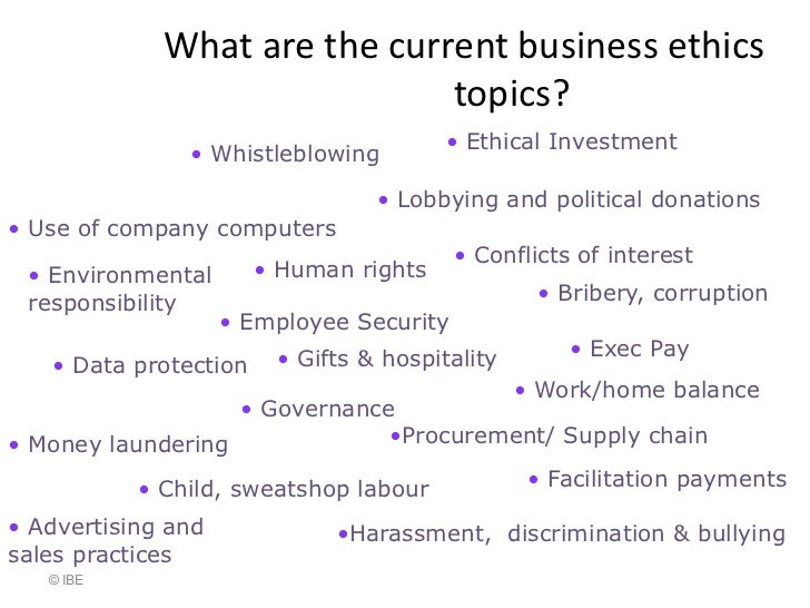 Business ethics essay exam questions