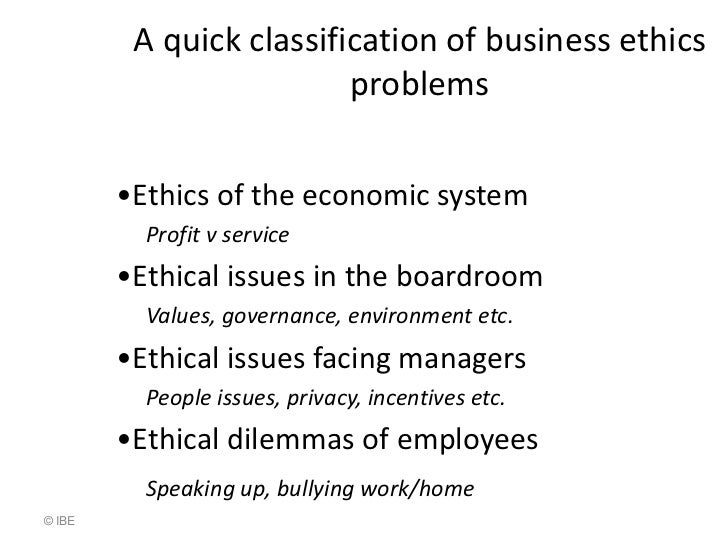 ethical dilemmas in business essay Free essay: an ethical dilemma is an incident that causes us to question how we  should react based on our beliefs a decision needs to be made between right.