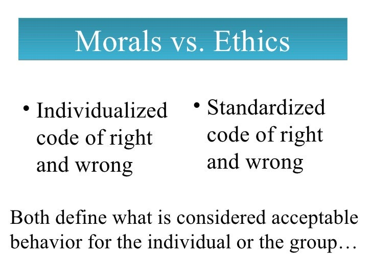 difference somewhere between moral together with ethical
