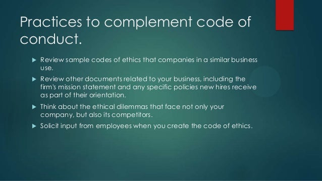 importance of code of ethics