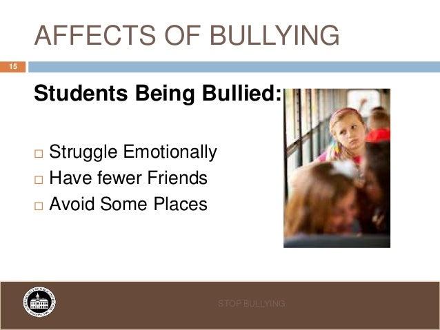 effect of bullying This article is a summary of benesse educational research institute, 2003, ijime no nokoshita mono, monografu shogakusei, vol23-2 tokyo: benesse corporation.