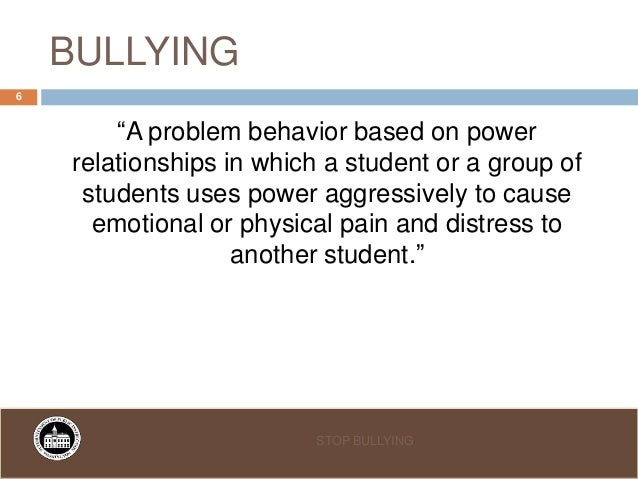 bullying and its effects on students