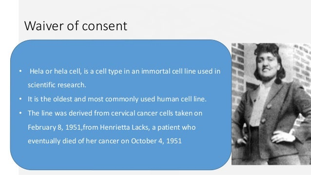were henrietta lacks? rights violated? if so, which ones?