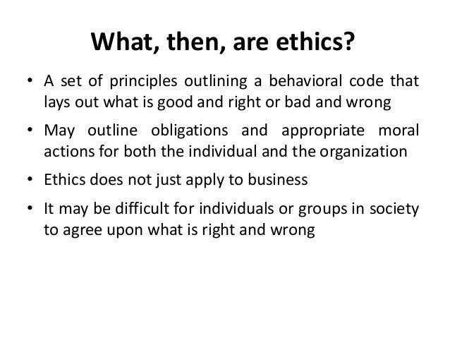 Ethics & Social Responsibility Slide 2
