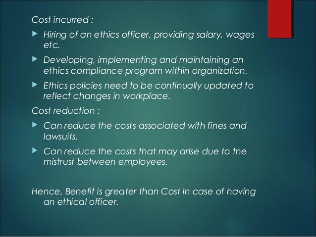 Should every listed company have an ethics officer - Ethics and compliance officer association ...