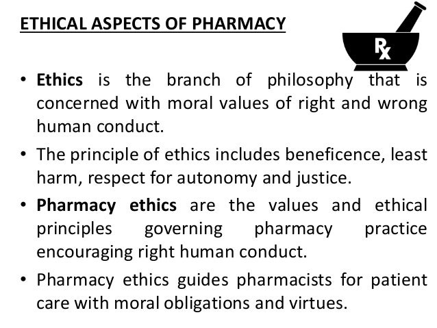 Professional ethics pharmacist s right to