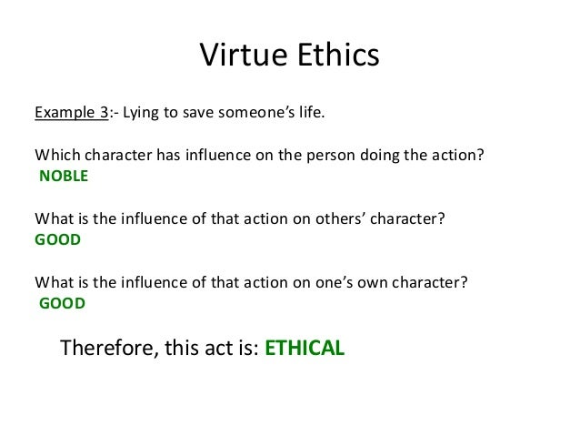 Virtue ethics research paper sample.