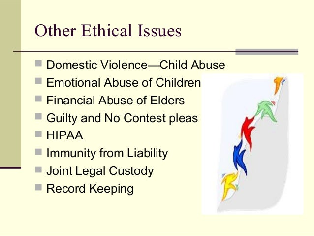 Ethical dilemma in domestic violence