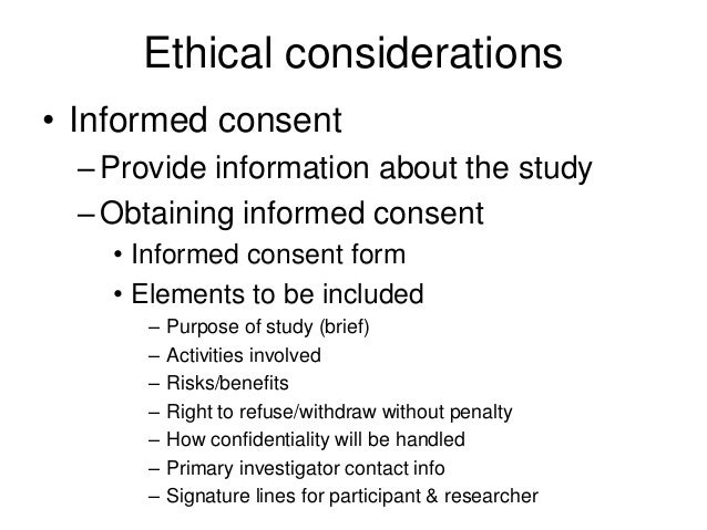 Dissertation ethical considerations