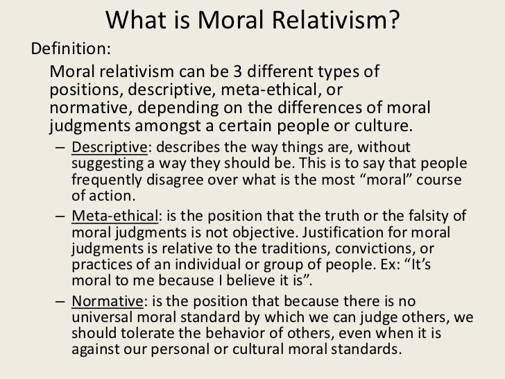 examples of moral relativism in everyday life