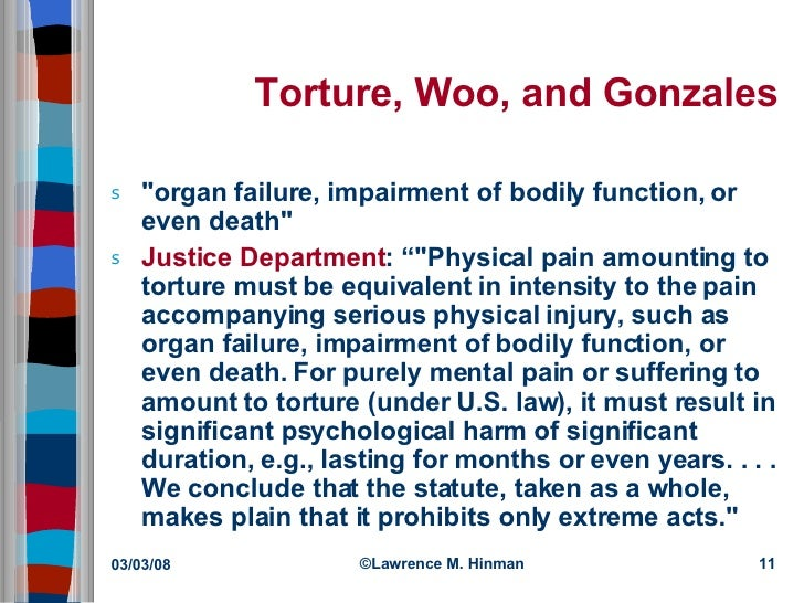 torture and ethics Abstract is the use of torture ever justified this article argues that torture cannot  be justified, even in so called ticking bomb cases, but that in.