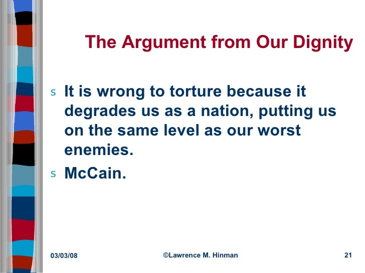The ethics of torture