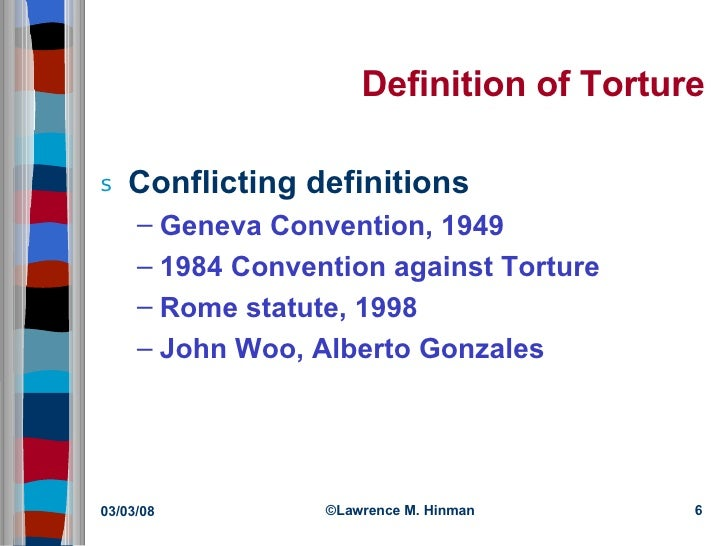 """torture ethics In addition to the legal questions are the ethical issues surrounding torture does  the practice demonstrate that the nation lost its """"moral bearings"""" in the bush."""