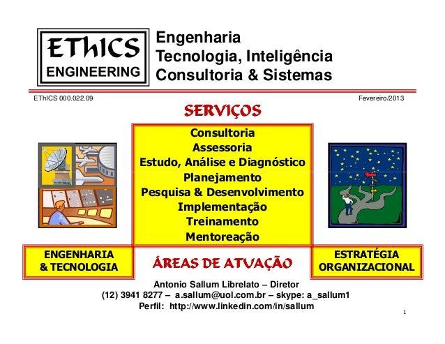 Engenharia                               Tecnologia, Inteligência                               Consultoria & SistemasEThI...