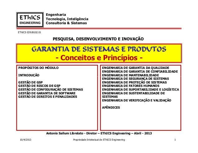 Engenharia EThICS              Tecnologia, Inteligência ENGINEERING         Consultoria & SistemasEThICS 039.BG02.01      ...