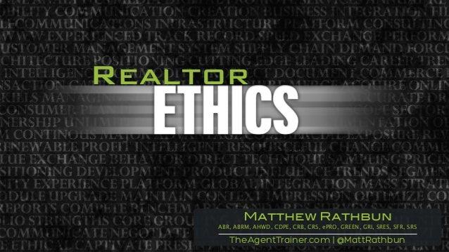 Realtor TheAgentTrainer.com   @MattRathbun Matthew Rathbun ABR, ABRM, AHWD, CDPE, CRB, CRS, ePRO, GREEN, GRI, SRES, SFR, S...