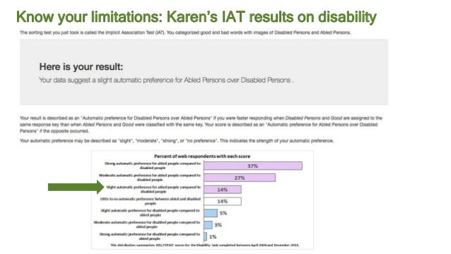 #AbstractionsCon @KarenBachmann @Carologic Know your limitations: Karen's IAT results on disability