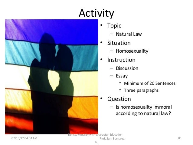 Theological voluntarism and homosexuality and christianity