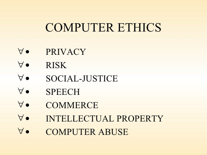 importance of computer ethics pdf